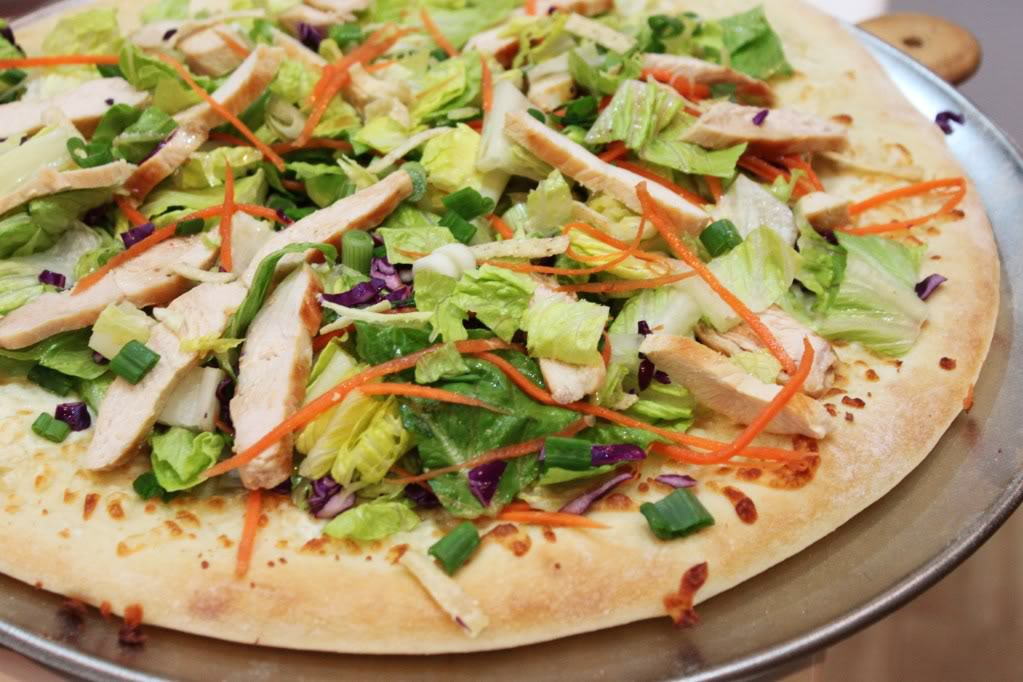 Pizza salad healthy food house