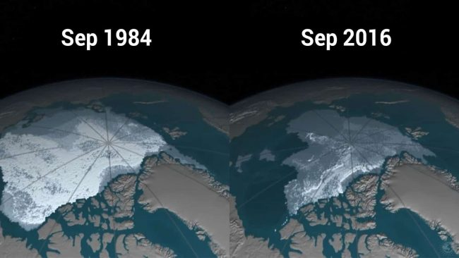 NASA Releases Time-Lapse of the Disappearing Polar Ice Caps in the Arctic