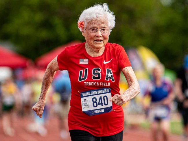 103-Year-Old Nicknamed The 'Hurricane' Wins Gold Yet Again