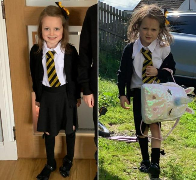 Girl's Before-And-After School Photos Go Viral