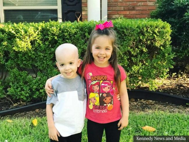 Sister Soothes Ill Little Brother Battling Leukemia In Heartbreaking Photo
