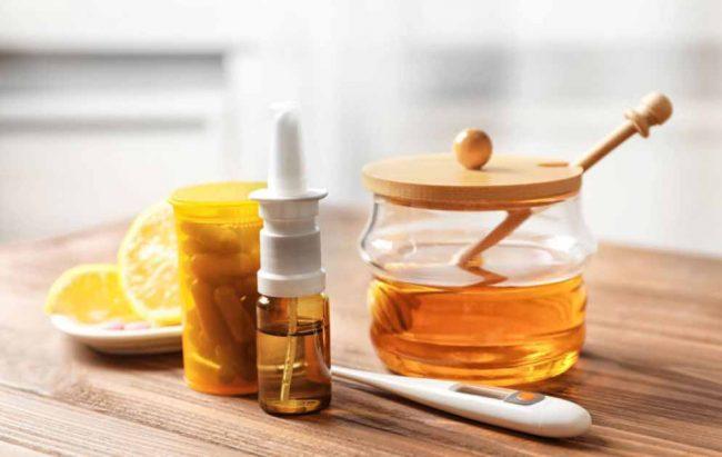 Honey, lemons, pills