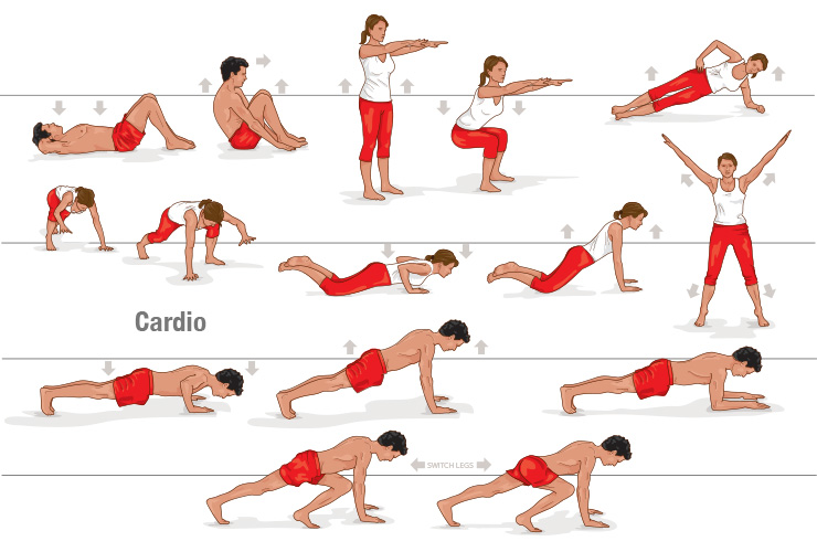 4 simple exercises for flat belly healthy food house for Which way to home