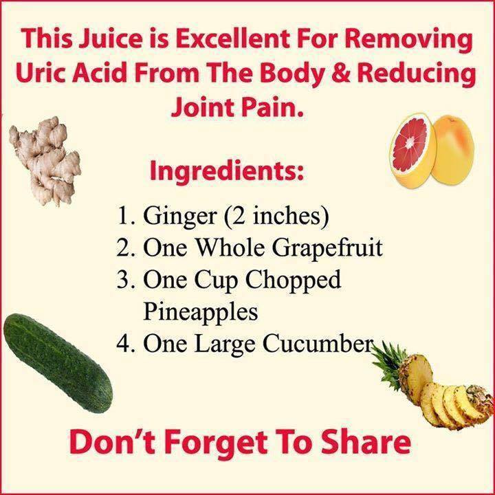 Remove Uric Acid From Your Body And Reduce Joint Pain With