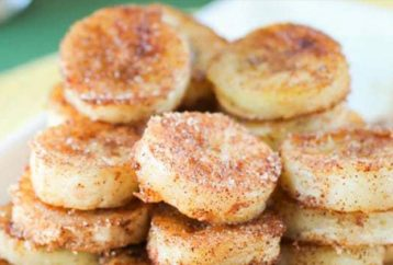 Fried cinnamon bananas