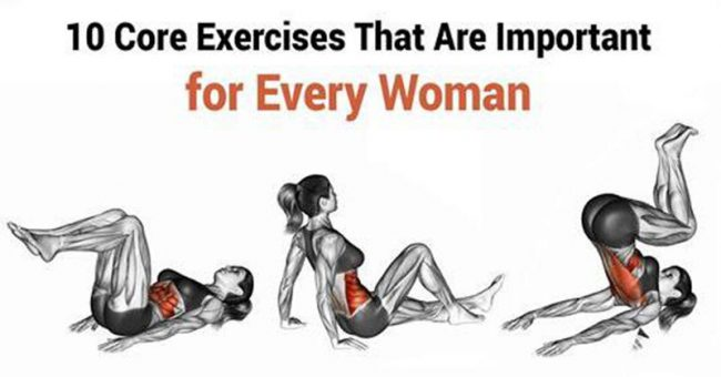 10 core exercises for woman