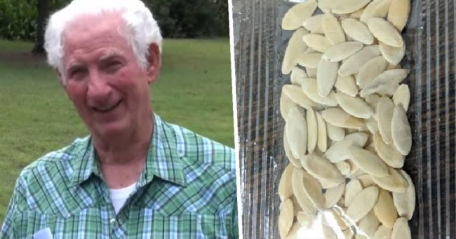 Doyle Crenshaw and seeds received from China